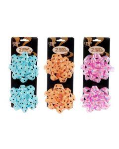 """Star Bows - Polka Dots - 4"""" ~ 2 per pack"""