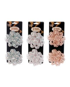 """Star Bows - Zig Zags - 4"""" ~ 2 per pack"""