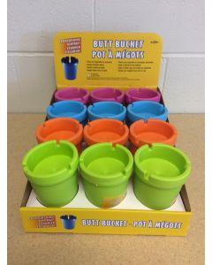 Colored Butt Bucket Ashtray ~ 12 per display