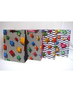 Jumbo Gift Bag ~ Bright Shapes