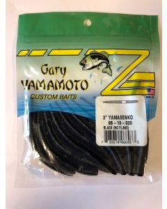 "Gary Yamamoto 3"" YamaSenko ~ Black (no flake)"