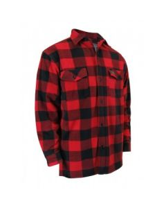 Red Plaid Fleece Shirt with Sherpa Lining & Buttons ~ Size 3XL only