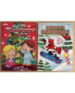 Christmas Coloring Books ~ 4 asst