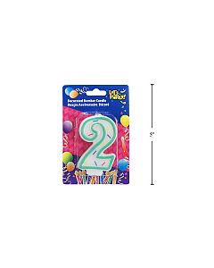 """Birthday Candle ~ Double Sided Number """"2"""""""