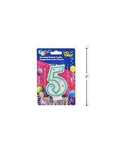 """Birthday Candle ~ Double Sided Number """"5"""""""