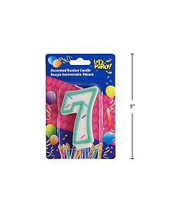"""Birthday Candle ~ Double Sided Number """"7"""""""