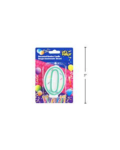 """Birthday Candle ~ Double Sided Number """"0"""""""