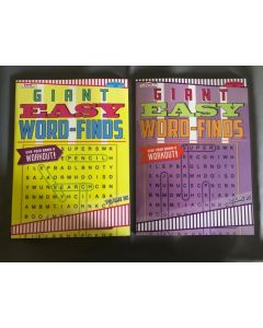 Giant Easy Word Finds Puzzle Books