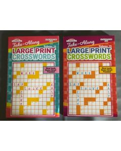 Large Print Crossword Puzzle Books  ~ Digest Size