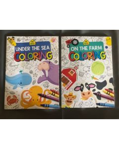 On The Farm / Under The Sea Coloring Books