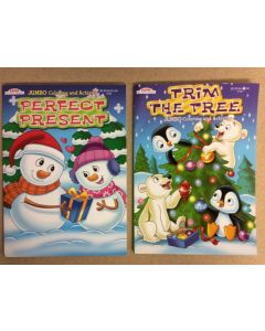 Christmas Jumbo Coloring Books ~ 2 asst