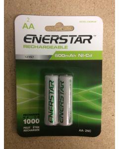 "EnerStar ""AA"" Rechargeable Ni-cd Batteries ~ 2/pk"