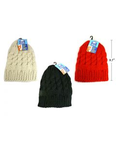 Ladies Cable Knit Beanie