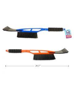 """Plastic Snow Brush with Ice Scraper & Foam Handle ~ 20.5""""L"""