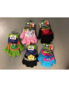 Kid's 2-Tone Magic Gloves with 3-D Character