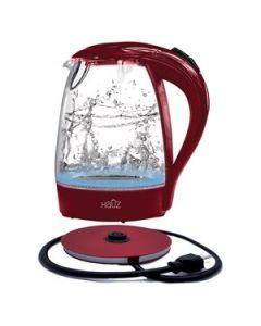 Illuminating Glass Kettle - RED ~ 1.7L / 12 Cups