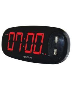 Digital Alarm Clock with 2 x 2AMP USB Charge Ports