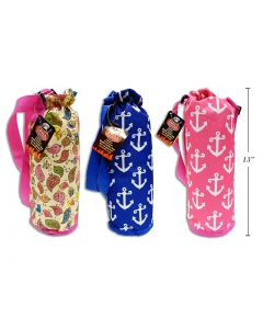 """Insulated Polyester Fashion Cooler Bottle Bag ~ 13"""""""