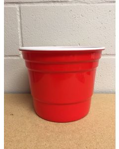 """9.75"""" Red Beer Cup Ice Bucket"""