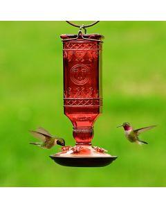 Perky-Pet Antique Red Glass Hummingbird Feeder