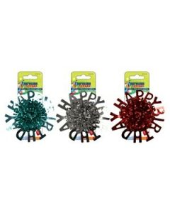 """5"""" Metallic Tinsel Gift Bow with """"Happy Birthday"""" ~ 3 assorted colors"""