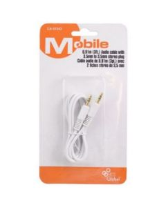 Audio Cable w/dual 3.5mm plug ~ 3'