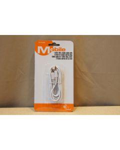Audio Cable w/dual 3.5mm plug ~ 6'