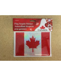Canada Flag Sequin Stickers