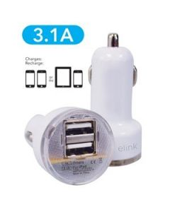 eLink Dual Universal USB Car Charger ~ 2.1A