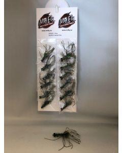 Olive Sparkle Crawdad Flies