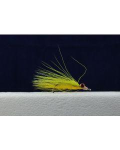 Clouser Minnow Flies - Size 2 ~ Chartreuse / Yellow