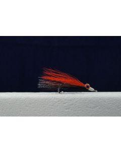 Clouser Minnow Flies - Size 4 ~ Orange / Black