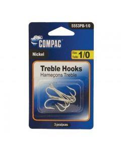 Compac Nickel Treble Hooks