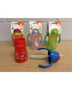 Tootsie Baby Printed Sipper Bottle w/Handles ~ 6oz