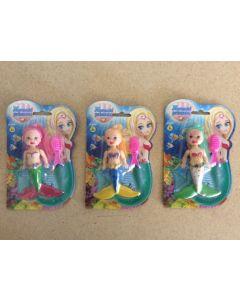 "Mermaid w/Accessories - 3.5"" ~ 3 assorted"