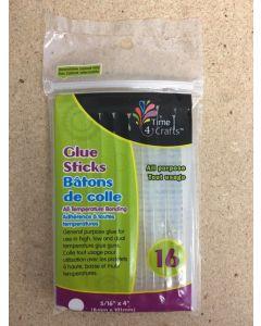 """Glue Sticks for Glue Guns - 4"""" x 5/16"""" D ~ 16 per pack"""