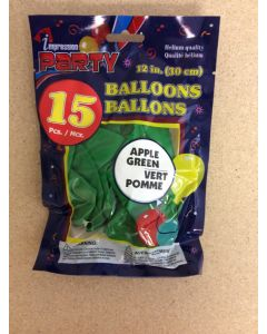 """12"""" Round Balloons - Green ~ 12 per pack"""