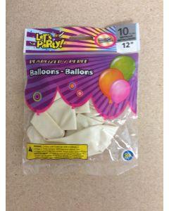 "12"" Round Balloons - Metallic Pearl ~ 10 per pack"