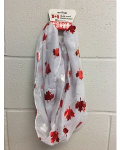 Canada Scarf with Red Maple Leaves