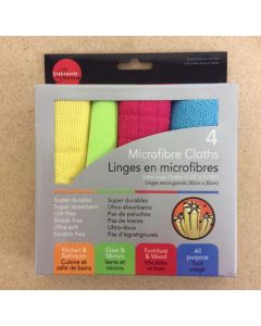 Microfibre Cleaning Cloths ~ 4 per pack