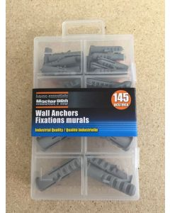 Wall Anchors {plugs} Assortment ~ 145 pieces