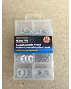 Spring & Flat Washers Assortment ~ 165 pieces