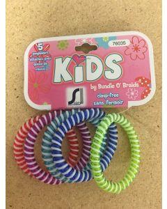 Kid's Hair Coil Ponyholder ~ 5 per pack