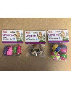 Catnip Toys ~ 3 assorted