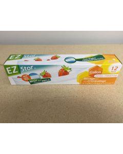 "EZ Stor Zipper Seal Storage Bags - 10-1/2"" x 11"" ~ 8 per box"