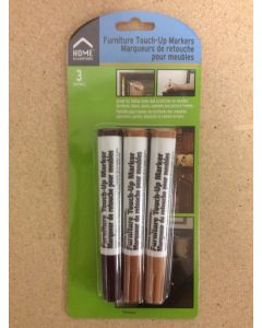 Furniture Touch Up Markers ~ 3 colors per pack