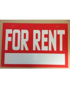 """Corrugated Plastic Sign - 16"""" x 24"""" ~ For Rent"""