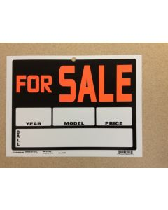 """PVC Sign - 9"""" x 12"""" ~ For Sale {year/model/price}"""