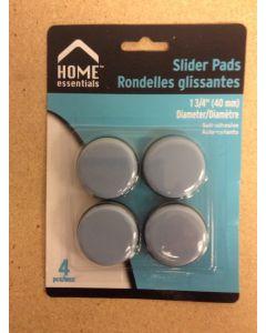 Slider Pads Floor Protectors - 1-3/4 {40mm} Diameter ~ 4 per pack