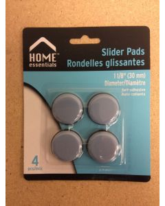 Slider Pads Floor Protectors - 1-1/8 {30mm} Diameter ~ 4 per pack